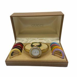 Auth Vintage GUCCI Interchangeable Bezel Watch